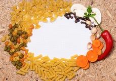 Frame of pasta Royalty Free Stock Photos