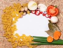 Frame of pasta Stock Photo