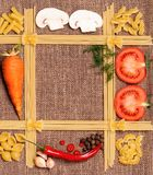 Frame of pasta Stock Image