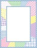 frame pastels patchwork Arkivfoto