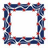 Frame patriótico - quadrado ilustração stock