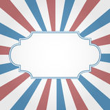 Frame with patriotic background Royalty Free Stock Image
