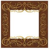 Frame with a pattern Royalty Free Stock Photography