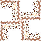 Frame Pattern Background Stock Images