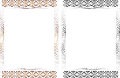 Frame with pattern and halftone elements Stock Photos