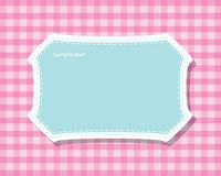 Frame pattern, speech bubbles, text box vector Royalty Free Stock Image