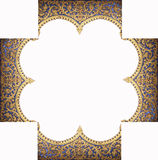 Frame of the pattern of the temple Royalty Free Stock Photography