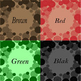 Frame patterned green, black, red and brown colors Royalty Free Stock Image