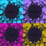 Frame patterned lilac,purple , yellow and blue colors Royalty Free Stock Image