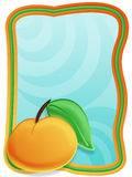Frame with peach. And background Royalty Free Stock Image