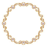 Frame with pearls Stock Image