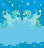 Frame with Pegasus Stock Photography