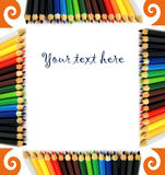 Frame of pencils Royalty Free Stock Photography