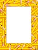 frame pencils yellow Стоковые Изображения RF