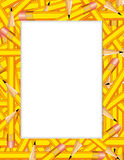 frame pencils yellow Στοκ εικόνες με δικαίωμα ελεύθερης χρήσης