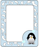 Frame with penguin. Royalty Free Stock Photo