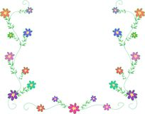Frame of Petite Flowers Stock Photos