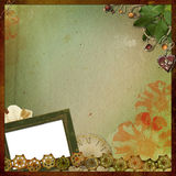 Frame for a photo. Frame for photo on a background with a boder and decoration Stock Photos