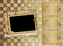 Frame for photo on the abstract background Stock Image