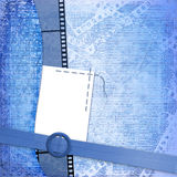 Frame for photo on the blue background Stock Photos