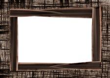 Frame photo with the canvas texture Stock Photos