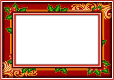 Frame photo christmas. Christmas photo frame which can be used as a invitation for christmas party, post card or lebel Stock Photography