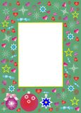 Frame for photo with Christmas elements Royalty Free Stock Images