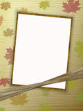 Frame for photo or congratulation with ribbons. Abstract background Stock Image