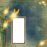 Frame for photo with flowers Royalty Free Stock Photography