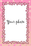 Frame for photo with heart. Frame, photo, heart, love, pink, valentine, wedding vector illustration