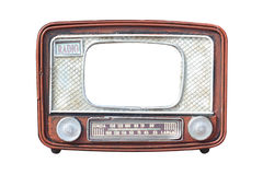 Frame for photo - Old radio. Isolated Royalty Free Stock Photo