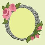 Frame for photo with roses on a colored background. royalty free illustration