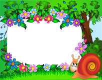 Frame for photo snail and flower Stock Image