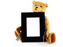 frame photo stuffed toy Arkivfoto