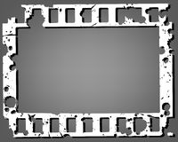 Frame of photographic film. On a grey background. Vector illustration Royalty Free Stock Photo