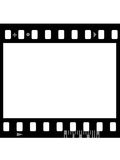 Frame of photographic film ( seamless). Frame of photographic film ( seamless ) isolated on white background Royalty Free Stock Photography