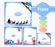 The frame for photographic New Year stock illustration