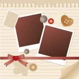 Frame for photos Stock Images
