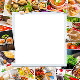 Frame photos of food Stock Image