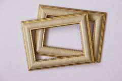 Frame for photos, paintings, watercolors, drawings on a light background. royalty free stock image