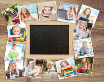 Frame photos of schoolgirl Stock Image