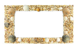 Frame photos of shells Royalty Free Stock Image
