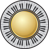 Frame piano kyes Stock Image