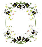 Frame for picture. S of flowers Royalty Free Stock Image