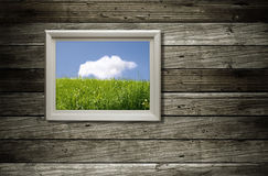 Frame with picture Royalty Free Stock Image
