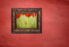 Frame with picture Stock Image