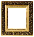 Frame for a picture. The gilt wooden frame for a picture Stock Photos