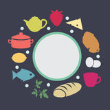 Frame with a picture of food Royalty Free Stock Image