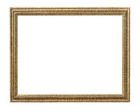 Frame picture frame wooden. Carved pattern isolated on a white background Royalty Free Stock Photos