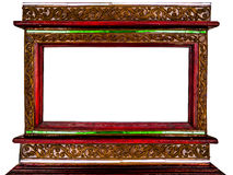 Frame of picture made by wood and border decor vintage Royalty Free Stock Photo